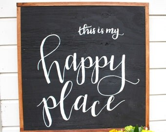 This is My Happy Place | Framed Wooden Sign