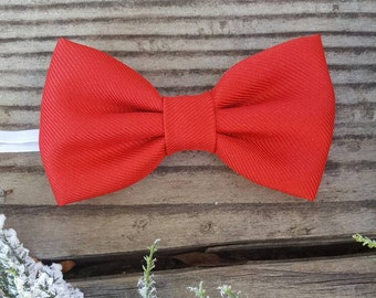 Boys red bow tie, boys holiday bow tie