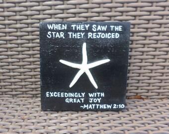 Matthew 2 10 Wooden Sign