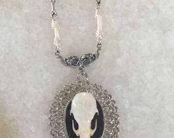 Skull and Bone Macabre Necklace
