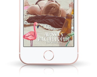 Bachelorette Party Snapchat Geofilter // Flamingo // Flock // Birthday // Custom Snapchat Filter // Party Filter