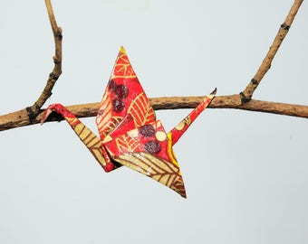 "Origami ""Cranes fall"" brooch"