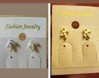 Prince Symbol Studd Earrings