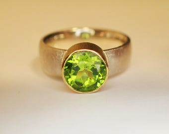 Ring Silver Gold Peridot / you can buy me, but I be from want made sent 28.08. or