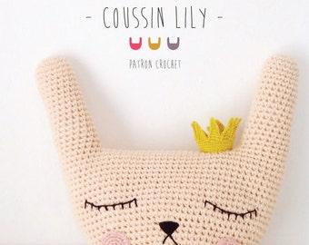 Patron crochet Coussin Lily FRANÇAIS