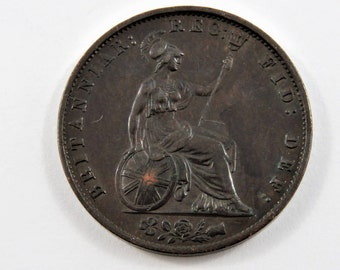 Great Britain 1854 Penny Coin.