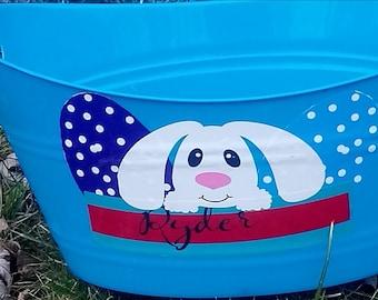 Easter Basket, Personalized Easter Basket. Easter Bucket, Kids Easter bucket, Easter Gift, keepsake basket, Baby Shower Gift