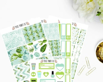 Succulents Planner Stickers, for use with Erin Condren, Life Planner, ECLP, Mambi, Happy Planner