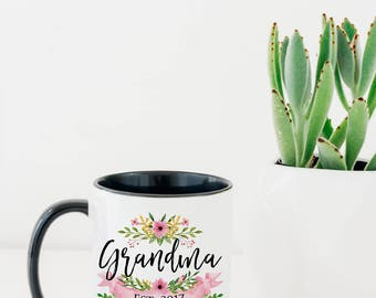 Grandma Mug - Mugs for Grandma - Pregnancy Reveal Mug - New Grandparents Mug - New Grandparent Mugs - Baby Announcement Mug - Grandma Cup