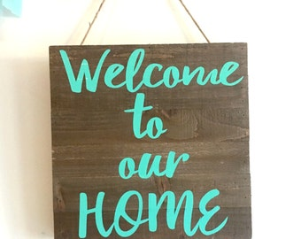 welcome to our home sign, welcome sign, pallet sign customizable