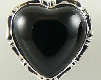 Black Onyx Earring 14k Whtie Gold Stud
