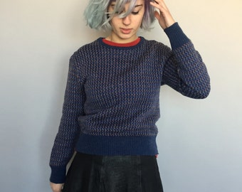 80s Colourful Jumper / 80s Sweater