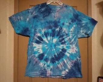 "Size 2XL: ""Iceberry"" Impromptu tie dye shirt #90"