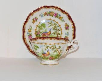 Royal Albert Chelsea Bird Bone China Teacup and Saucer - 1228