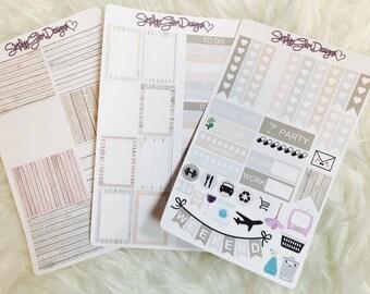 Rustic Love Weekly Sticker Kit | Erin Condren & Plum Planner