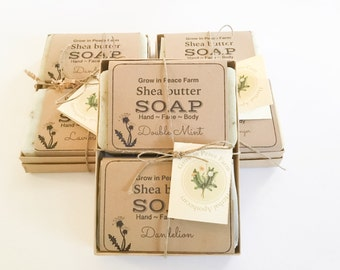 Boxed Soap Gift Set - spa gift set, Packaged soap gift, natural soap