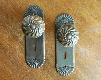 complete set fan style victorian doorknobs door knob set victorian hardware door hardware antique doorknob - Vintage Door Knobs