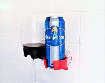 Shower Beer Beverage Wine Glass Holder for Bathroom Bathtub Bath