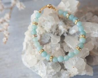 Aquamarine Bracelet, Real Aquamarine Bracelet, Aquamarine Bracelet for Her, March Birthstone Jewelry, Genuine Aquamarine Jewelry, Boho Luxe