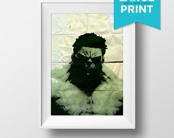 Incredible Hulk Avengers Poster Illustration Marvel Comics Giclee Large Poster Print on Satin or Cotton Canvas Superhero Wall Art