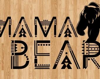 Mama Bear SVG; Papa Bear SVG; Baby Bear SVG; Family Bears; svg file