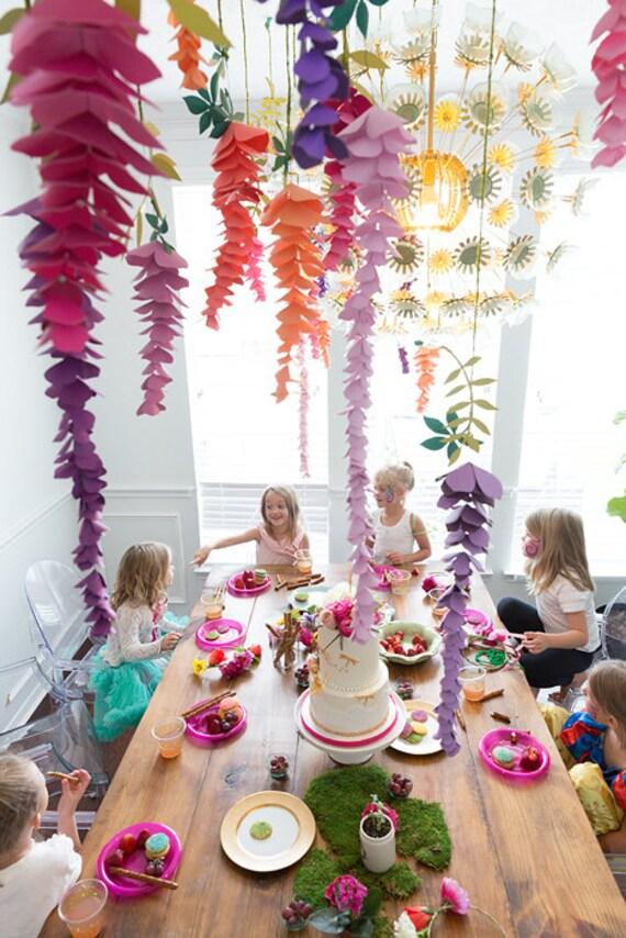 Paper wisteria flowers hanging wisteria paper decor party decor il570xn mightylinksfo