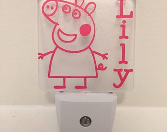 Personalized Peppa Pig LED Nightlight