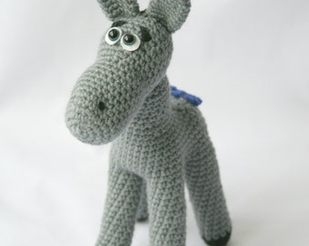 Stuffed toy donkey Donkey crochet toy Amigurumi Donkey Children gift Donkey soft toy Donkey Plush toy Eeyore Soft toy donkey Crochet animal