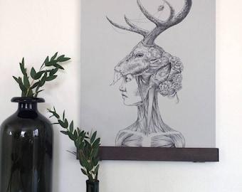 Original, ink, pen, drawing, artwork: My Deer