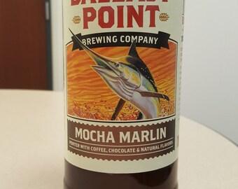 Ballast Point Mocha Marlin - Coffee - Beer Bottle Candle