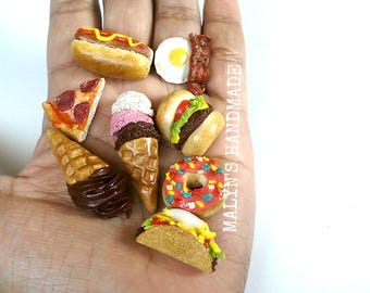 You pick Food Ring - Jewelry,  Kawaii Miniature Foodie gift, Food Charms Cute Ring