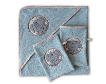 Set organic bath towel and washcloth