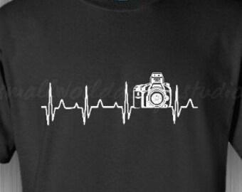 Photography Lovers - Heartline Camera TShirt