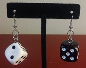 Dice Earrings from board games - 23 Different colors! For the Geeky, Nerdy, Gamer, or Board gamer in you!
