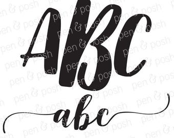 SVG Font - Monogram Fonts - Monogram Font SVG - Font Svg - Monogram SVG - Monogram Fonts for Cricut - Svg Fonts for Cricut and Silhouette