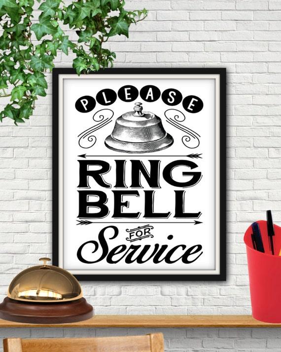 Ring Bell For Service Desk Sign