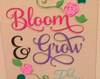 Garden Flag - Bloom where you grow
