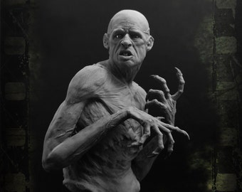 Nosferatu 1/10 Scale resin bust. Vampire Bust, Undead, Evil, Zombie, Dracula, blood sucker, king of the night