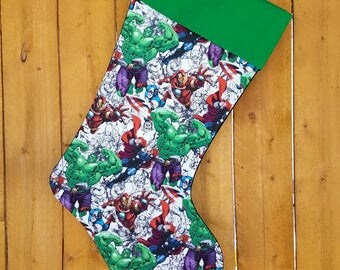 Avengers Incredible Hulk Quilted Christmas Stocking