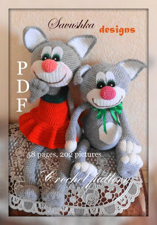 Amigurumi Toys Pattern : Crochet Pattern Cat amigurumi pdf pattern toy Amigurumi toy