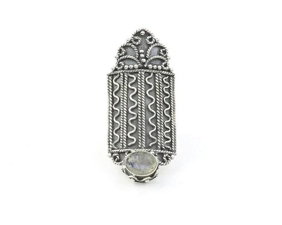 Labradorite Heiress Ring, LARGE Sterling Silver Labradorite Ring, Statement Piece, Gemstone, Crystal Jewelry, Boho, Gypsy, Hippie, Spiritual