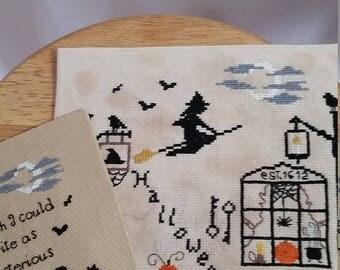 Halloween Cross stitch Set, Halloween, Edgar A. Poe quote, Halloween cross stitch, Literature Cross Stitch