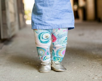 Pastel Floral Leggings for Baby, Toddler & Girls