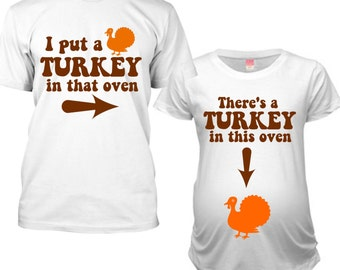 Thanksgiving Maternity Shirt, Matching Thanksgiving Outfits, Matching Pregnancy Tshirt, Matching Thanksgiving Pregnancy Announcement Shirts