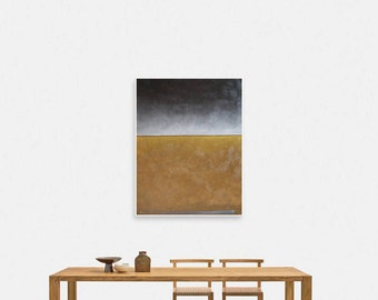 Abstract, Oil, Painting, Art, Brown, Red, Beige, Minimalistic, Large, Landscape, Red sea, Seascape, Original painting