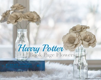 Harry Potter - Book Page Flowers