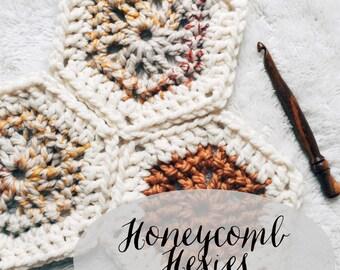 PATTERN: The Honeycomb Hexies || Easy Crochet Blanket Pattern