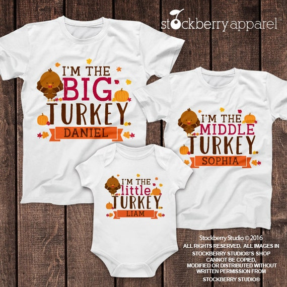 Items similar to thanksgiving sibling shirt set of 3 for Shirts made in turkey