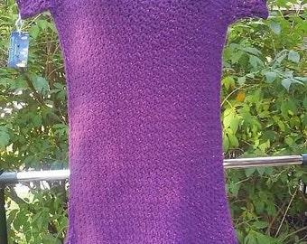 Purple Sparkled Fringed Dress