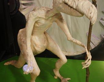 skeksis, dark crystal, creature, dark creature, puppet, large puppet